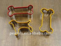 2011 NEW dog or dog bone Eco-Friendly metal 18/0 stainless steel Customized design cookie cutter pastry cake decoration