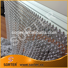 vertical hanging insect aluminum chain fly screen