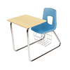 high quality MDF top with PU edge school chair combo desk with writing pad board