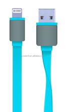 High Speed Flat Noodle Micro USB data Cable For iphone 5 5s 6 ipad samsung galaxy s3 s4 note2