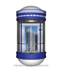 1.0m/s ball cover panoramic elevator lift safe building
