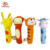China OEM Custom Hand Bells Plush Animal Shaped Soft Baby Rattle Ring Toy for baby