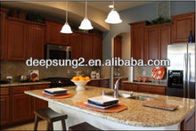 classcial style cherry or ash solid wood kitchen cabinet made in foshan