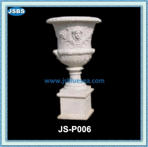 cheap large natural stone garden urn planter