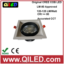 hot lumin single head 30W COB LED grille ceiling lighting CE&ROHS