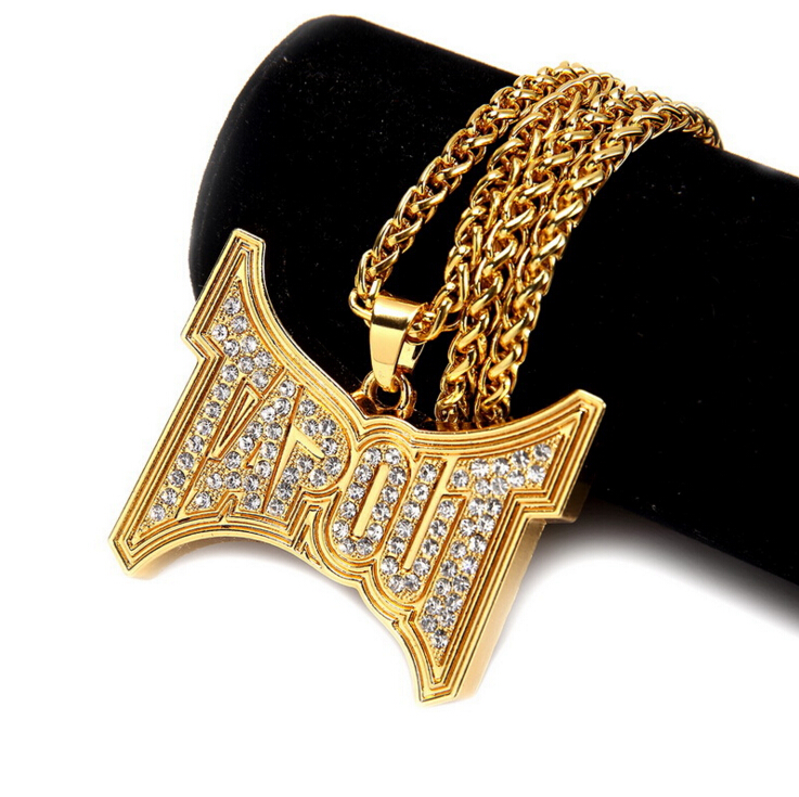 Personalized Hip Hop Gold Large Tapout Pendant Chain For Men