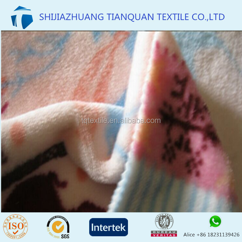 2016!!! 160cm Double Side Brushed Flannel Fleece Fabric with Stock Lot for Men/Woven Sleepwear from Hebei Factory
