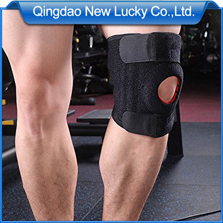 Neoprene Sport Equipment Adjust Open Patella Knee Brace Support