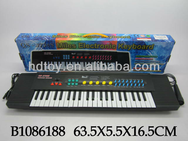 musical instrument plastic toy 37key electronic organ with microphone