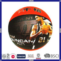 made in China hot sell promotional customized logo outdoor custom rubber basketball ball
