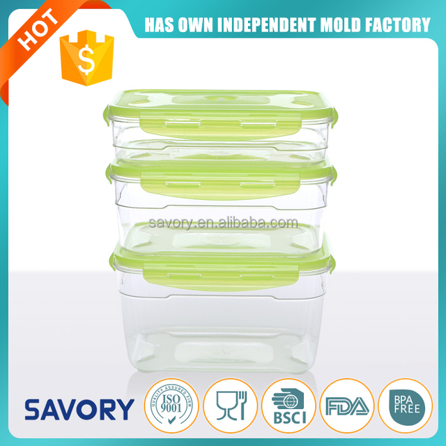 2017 rectangle thermos raw material lunch box plastic food packaging plastic container