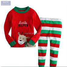 cartoon pajama sets kids,children sleepwear long sleeve long pants boys girls christmas pajamas family