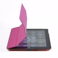 leather foldable case for ipad 2/3/4
