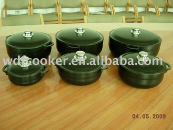 aluminum non-stick cooking pot set