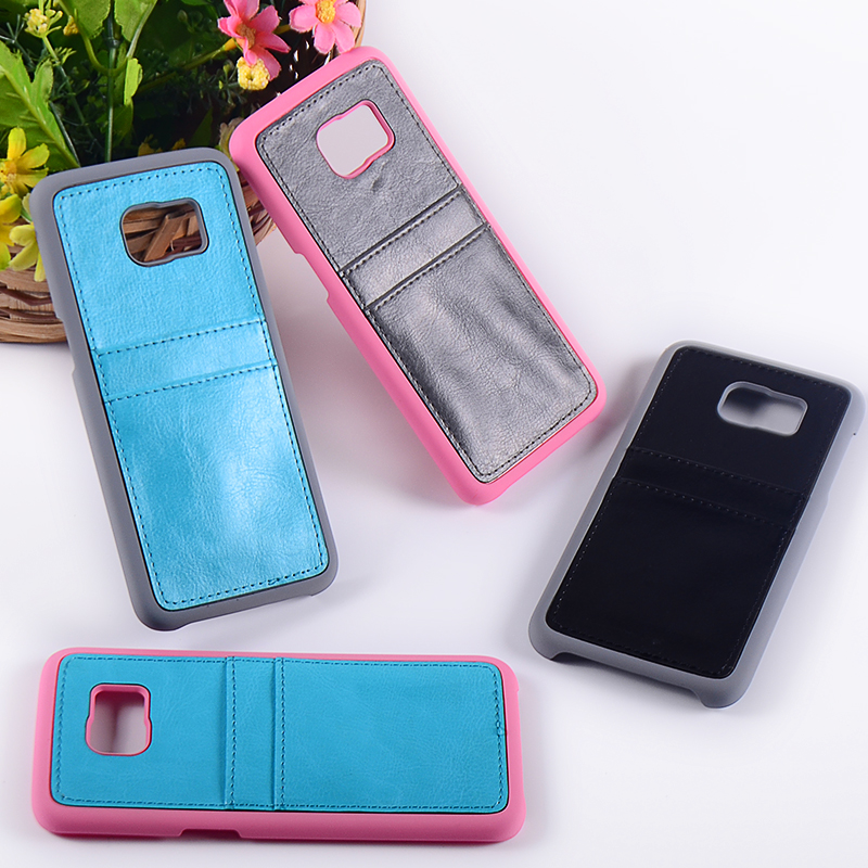 Customized 2 in 1PC+PU Leather Case for Samsung S7 case with rubber coating