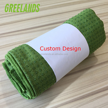 24X72 Eco-Friendly Non-Slip Plush Yoga Mat Towel With Anti Skid Silicone Dot , 2018 New Product Yoga Mat Cover With Mesh Bag