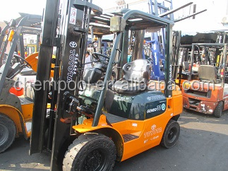 Toyota used 3 ton forklift for sale, 7FD30, 3 stages