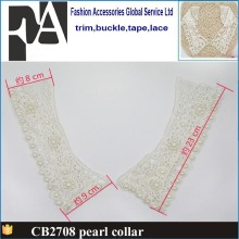 Embroidery make pair beaded collar for garment accessory