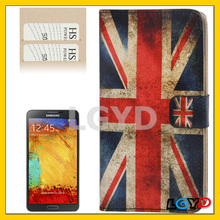 Fashion Retro UK Flag Pattern Horizontal Flip Leather Case with Credit Card Slots for Samsung Galaxy Note III / N9000