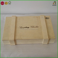 Wooden Chocolate Packaging Boxes with Logo Printed