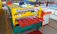 Porcelain Roofing Red Metal Roll Forming Machine