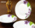 handmade classic white porcelain decal tableware set