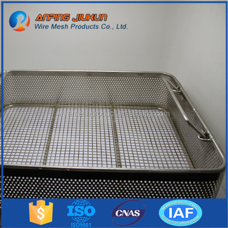 Brand new professional water filter wire mesh basket dental sterilization cassettes/trays for 5 instruments