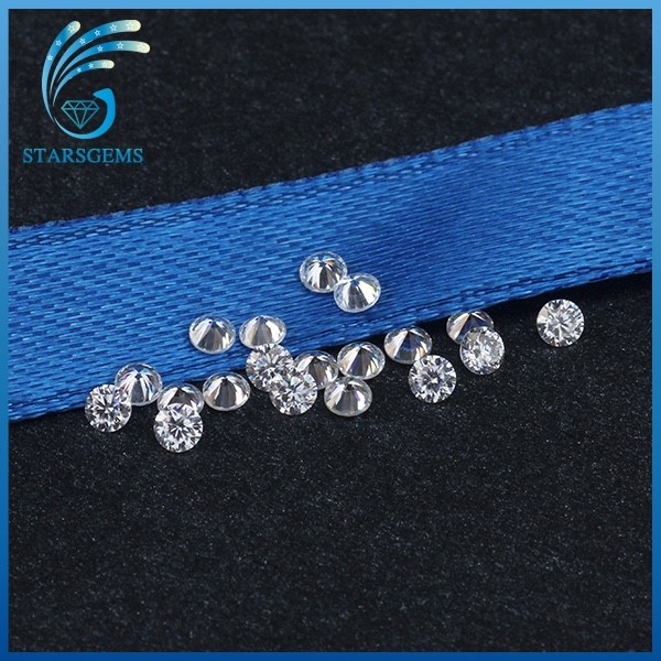 hot sale forever brilliant quality 2.0mm 3 points round moissanite diamond for sale