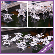 RG079 clear small MOQ iacrylic star pendant wholesale