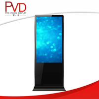 55 '' Super Slim Round Corner HD LCD Indoor Totem Display