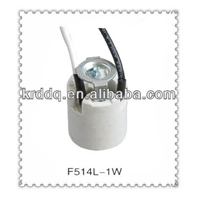 european standard porcelain E14 lamp holder with wire