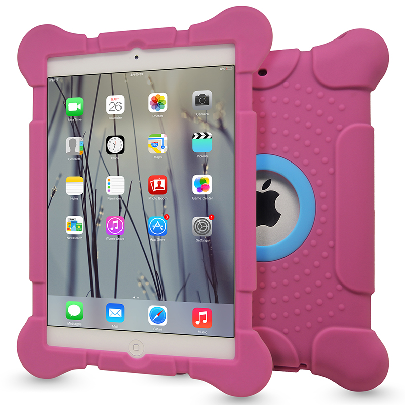 Protective shockproof silicon case for ipad mini 1 2 3,for ipad mini kid proof cover case
