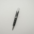 Mini pu leather ball pen with pearl crystal clip