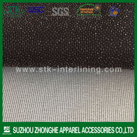 100% polyester warp knitting weft insert garment interlining fabric