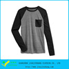wholesale men's colorblocked long sleeve pocket t shirts