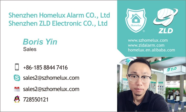 Homelux Z8 GSM and PSTN alarm 8+16 alarm zone intelligent security alarm system