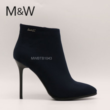 High quality lady PU leather ankle boots for women