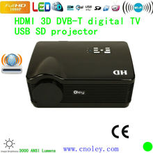 HD DVB-T projector Home Theater LCD 1080P Full HD LED DVT-T Projector 1920x1080 cheap Portable multimedia Projector
