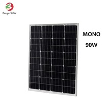 24v monocrystalline silicon 90W solar panel wholesale