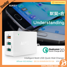 Aukey Intelligent multi 3 USB Port Quick Wall Charger 42W for HTC Desire EYE