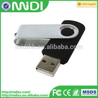 Swivel USB flash drive with customer logo for promotion and Optional Color disk 2.0 usb flash driver 4GB 16GB