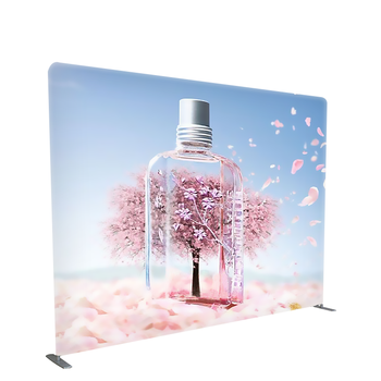 Aluminum stand exhibition display stretch fabric frames straight tension banner