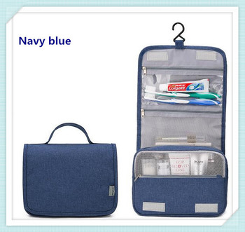 Yiwu ex-factory price of navy blue large-capacity multi-functional cosmetic bag travel bag