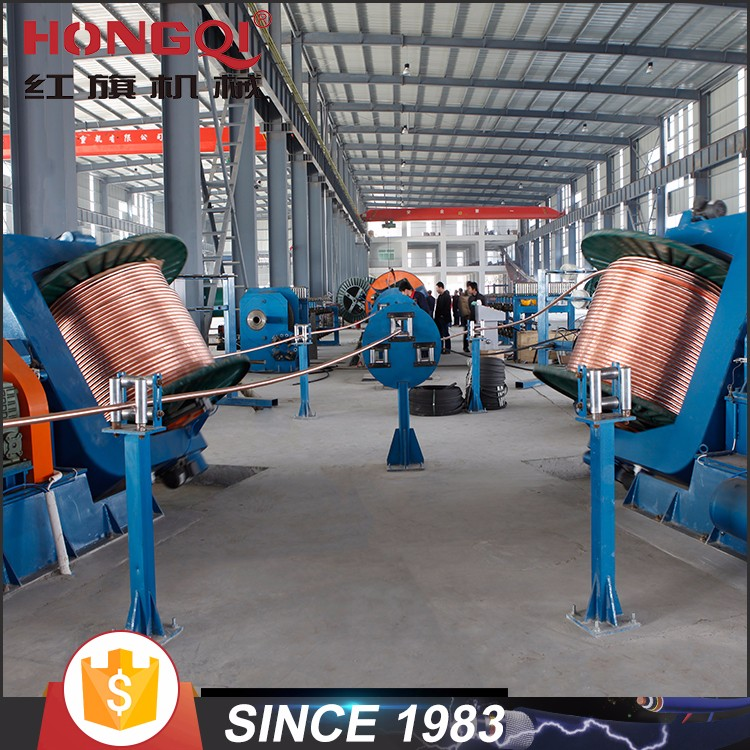 Drum type twisting machine electrical cable manufacturing machine for laying up / armoring