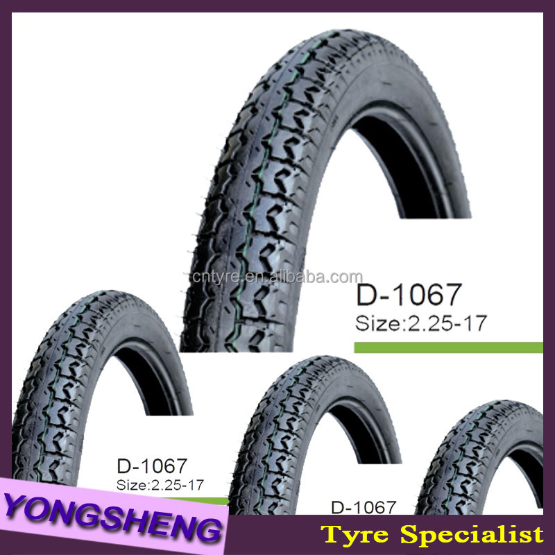natural rubber tubeless motorcycle tyre 2.50-18 D1067