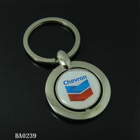 Zinc alloy material rotating promotional key chain