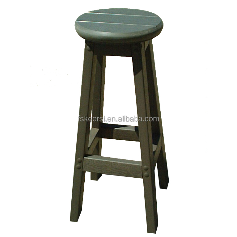 Factory Wholesale Plastic Wood Modern High Quality Bar stool