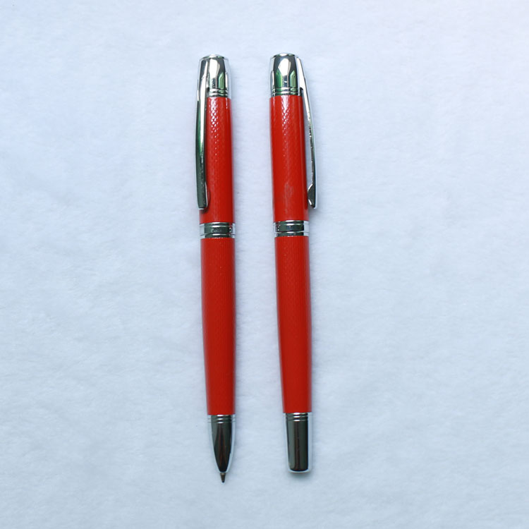 Promotional Executive Gift Good Quality Metal Roller Pen And Ball Pen Set With High End Gift Box