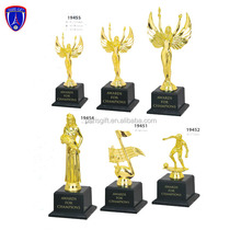 Chinese supplier manufacture metal angel trophy with champions logo