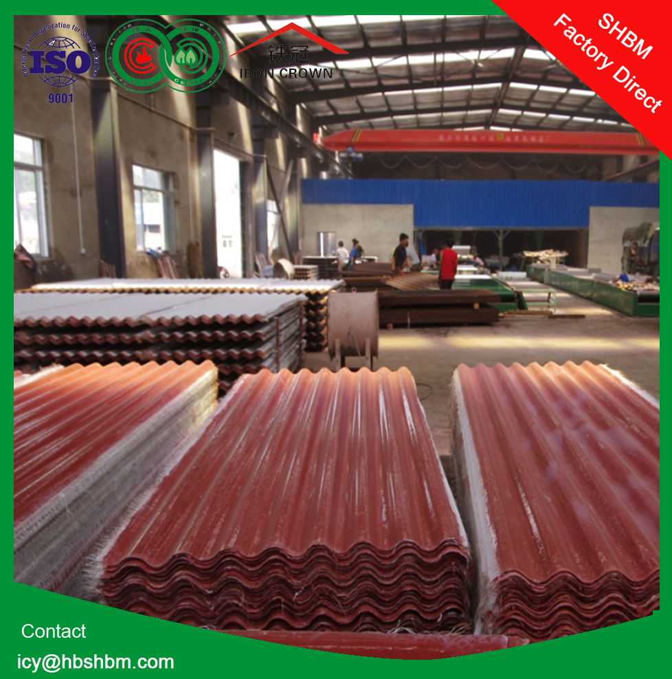 """Iron Crown "" high strength anti-corosion insulation MGO roofing sheets instead of plastic flat sheet roof SSHH01"